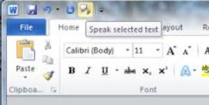 Speak button