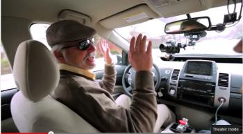 Steve Mahan & a Google self-driving car (2012)