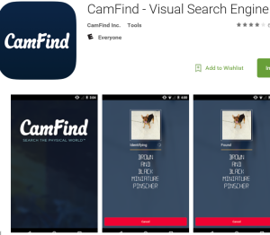 CamFind app screenshot