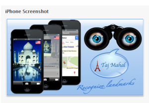 Talking goggles app screenshot