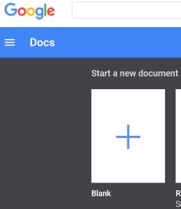 Google-docs-blank
