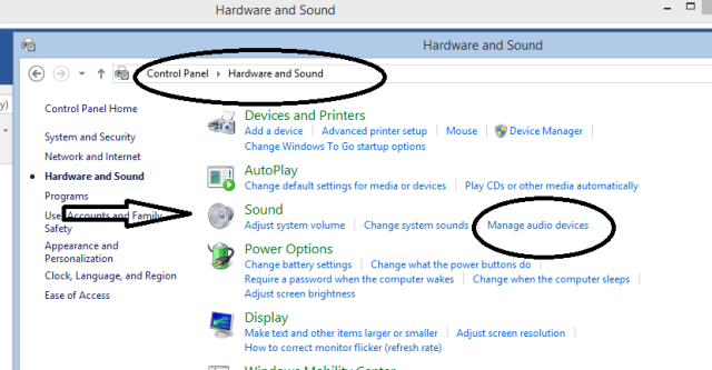 Manage audio sound
