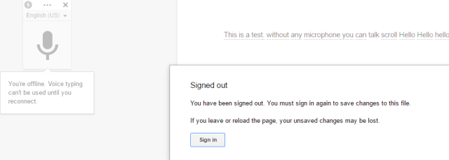 Sign out error when you are not in Google account.