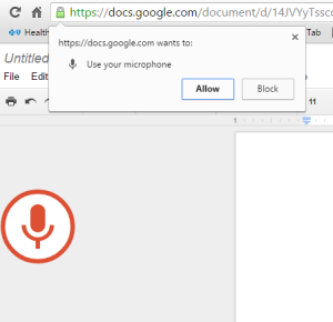 Allow Google to Access a microphone