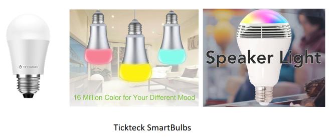 Tickteck Smart Bulbs