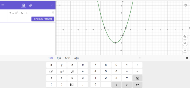 Geogebra screen